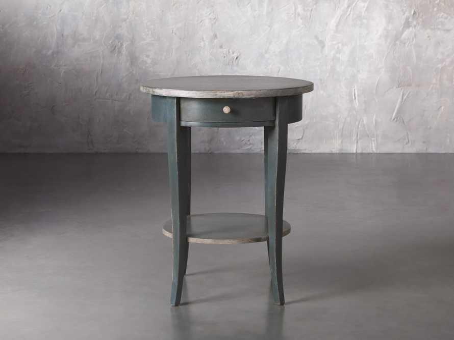 "Amalfi 20"" Round Side Table in Blue Grigio, slide 1 of 5"