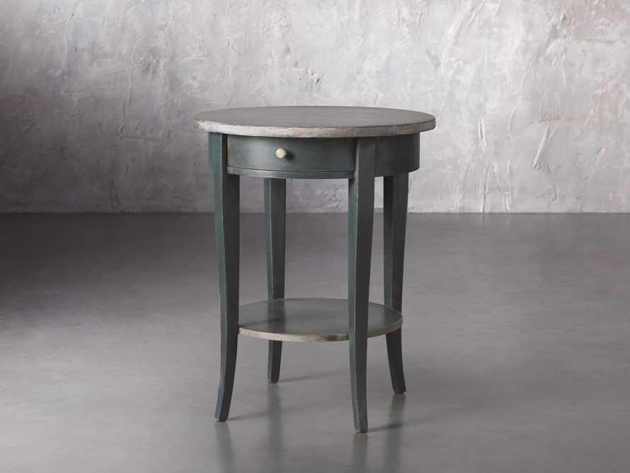"Amalfi 20"" Round Side Table in Blue Grigio, slide 2 of 5"