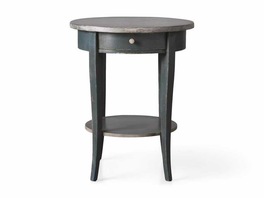 "Amalfi 20"" Round Side Table in Blue Grigio, slide 4 of 5"