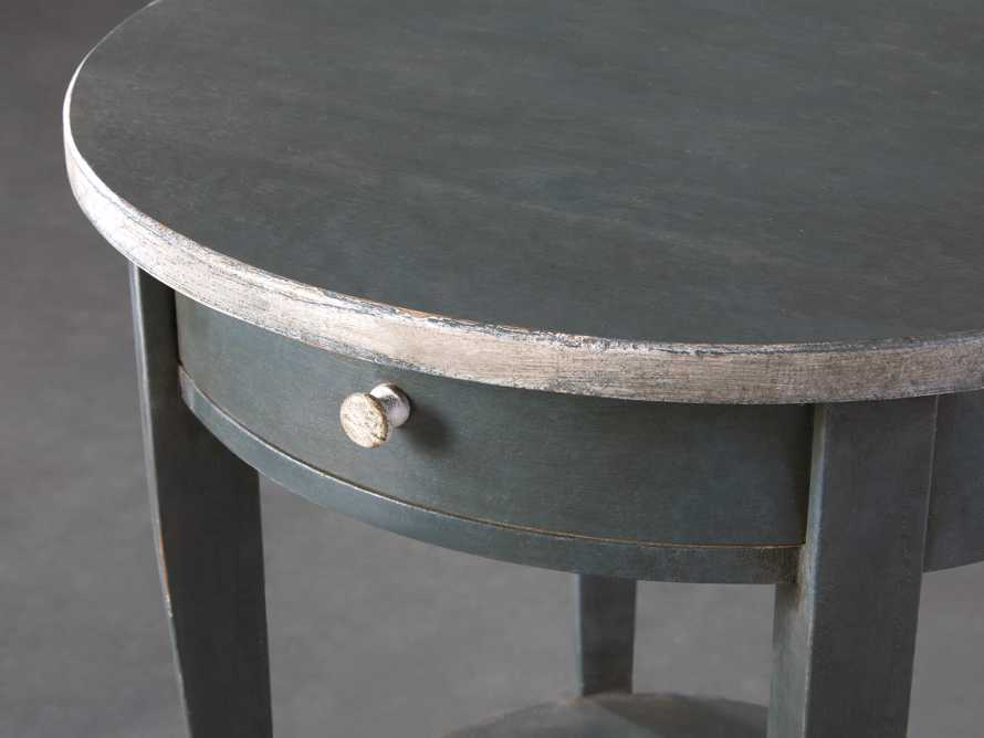 "Amalfi 20"" Round Side Table in Blue Grigio, slide 3 of 5"