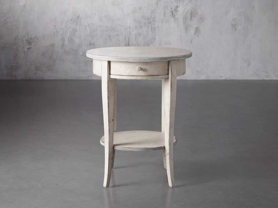 """Amalfi 20"""" Round Side Table in Bianco, slide 1 of 3"""