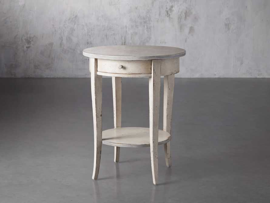 """Amalfi 20"""" Round Side Table in Bianco, slide 2 of 3"""