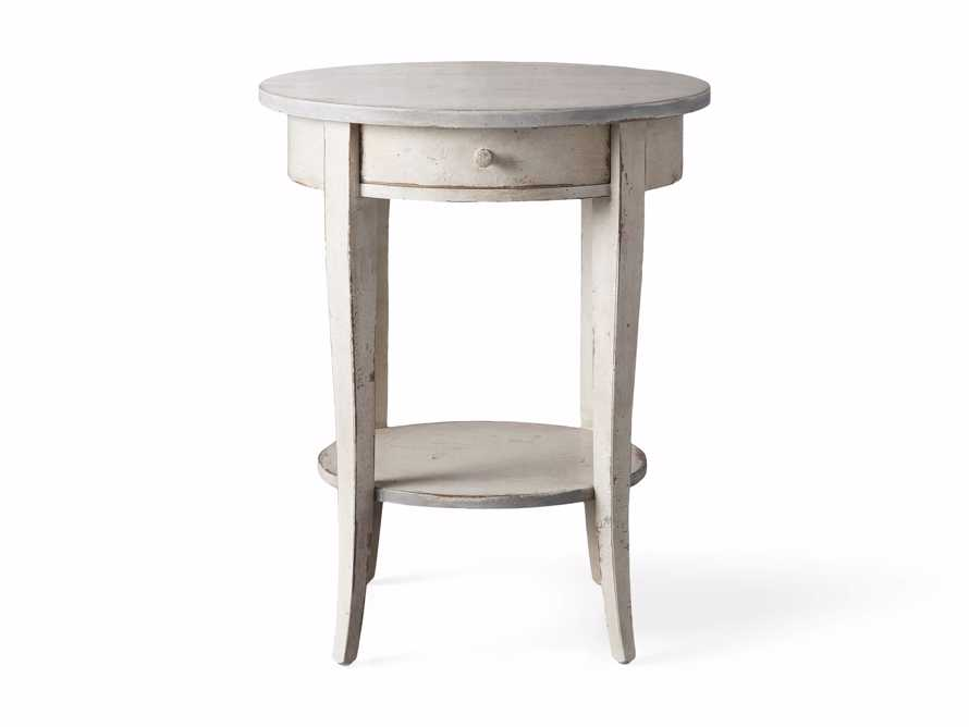 """Amalfi 20"""" Round Side Table in Bianco, slide 3 of 3"""