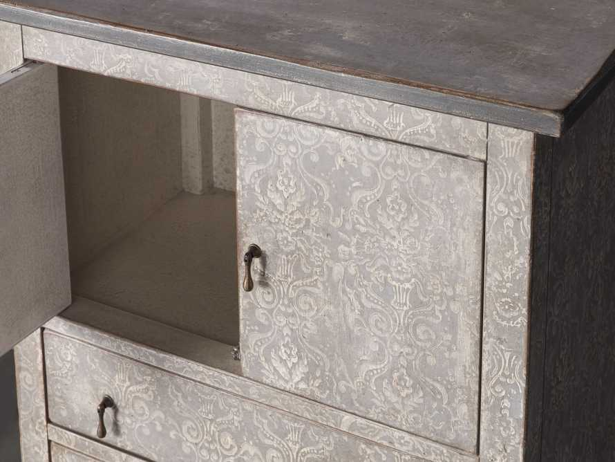 """Amalfi 50"""" Small 2 Door Cabinet with 4 Drawers in Dolphine Grey with Bianco, slide 3 of 6"""