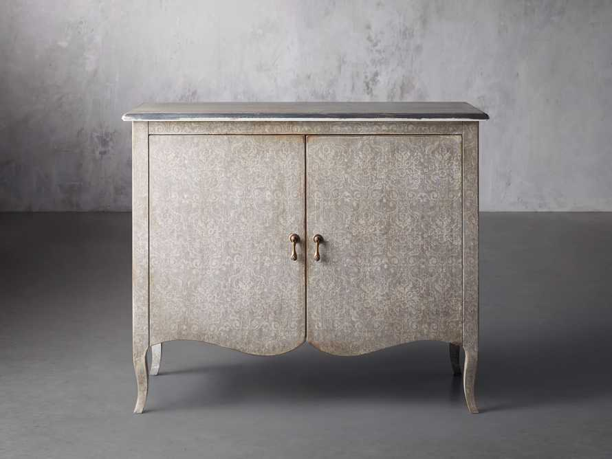 """Amalfi 44.5"""" Modello Isabella 2 Door Chest in Dolphine Grey with Bianco, slide 1 of 4"""