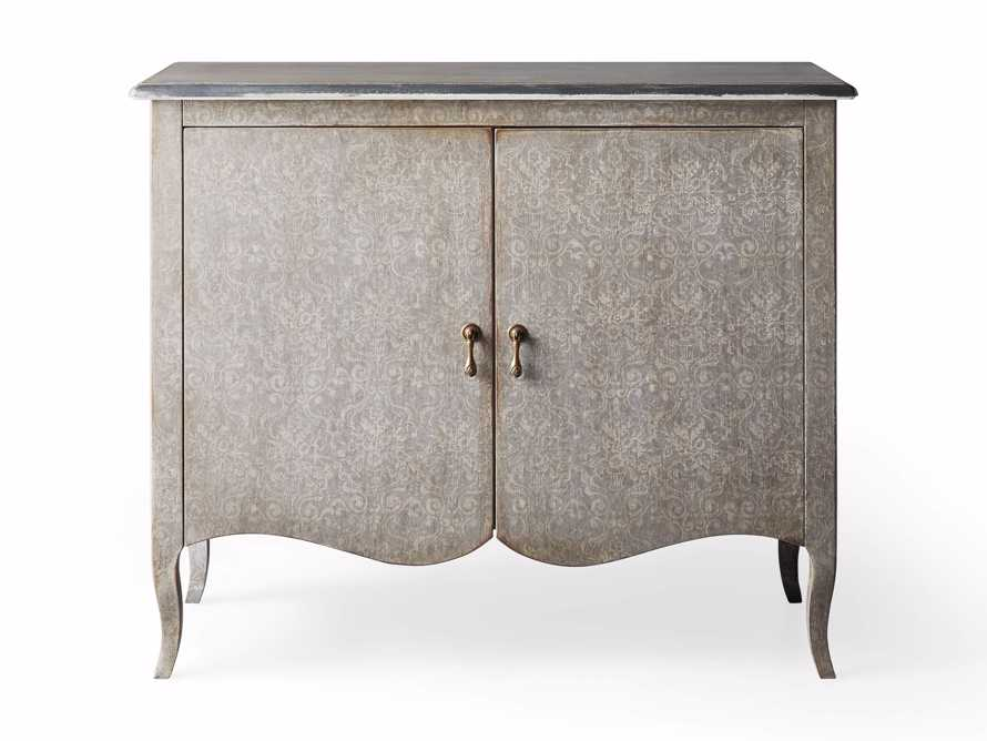 """Amalfi 44.5"""" Modello Isabella 2 Door Chest in Dolphine Grey with Bianco, slide 4 of 4"""