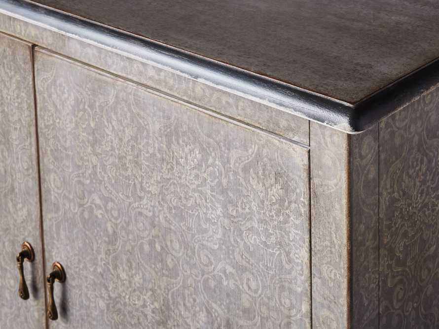 """Amalfi 44.5"""" Modello Isabella 2 Door Chest in Dolphine Grey with Bianco, slide 3 of 4"""