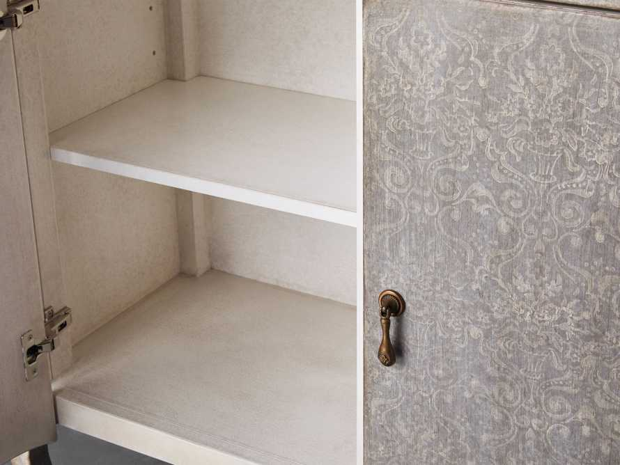 """Amalfi 44.5"""" Modello Isabella 2 Door Chest in Dolphine Grey with Bianco, slide 2 of 4"""