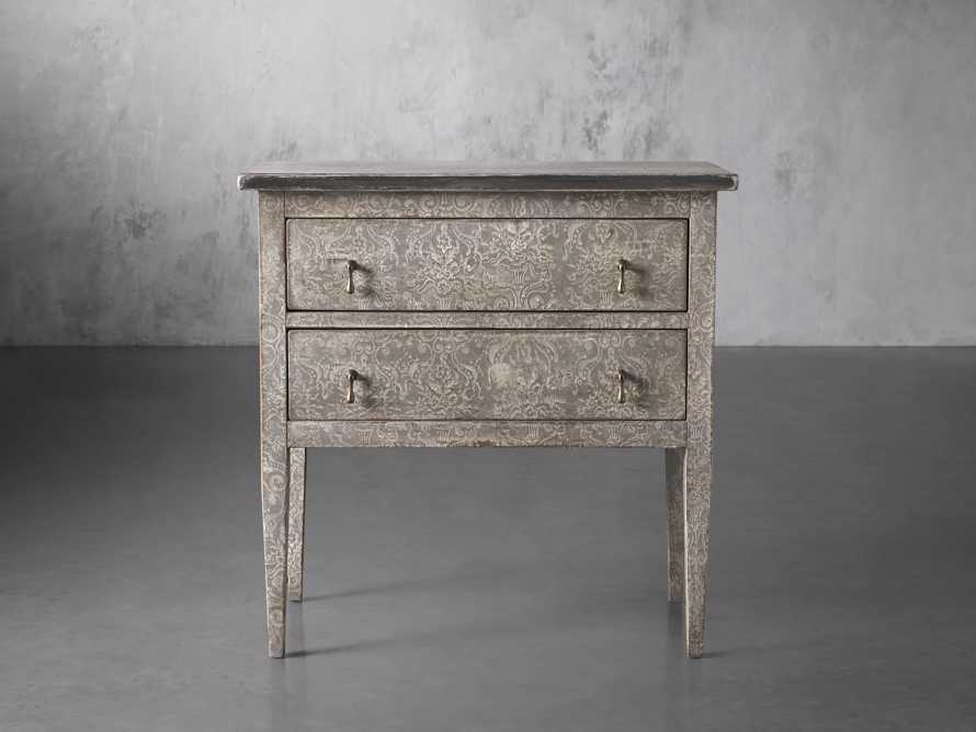 """Amalfi 31.5"""" Small Two Chest Drawer in Dolphine Grey with Bianco, slide 1 of 5"""