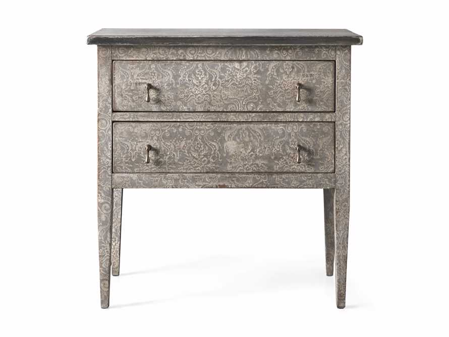 """Amalfi 31.5"""" Small Two Chest Drawer in Dolphine Grey with Bianco, slide 5 of 5"""