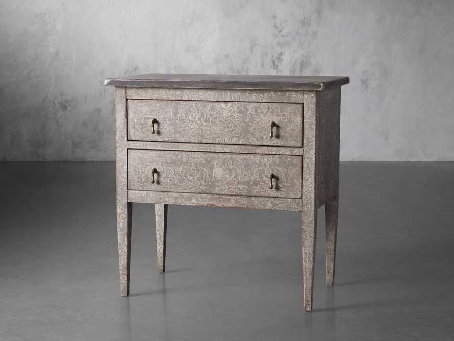 """Amalfi 31.5"""" Small Two Chest Drawer in Dolphine Grey with Bianco, slide 2 of 5"""