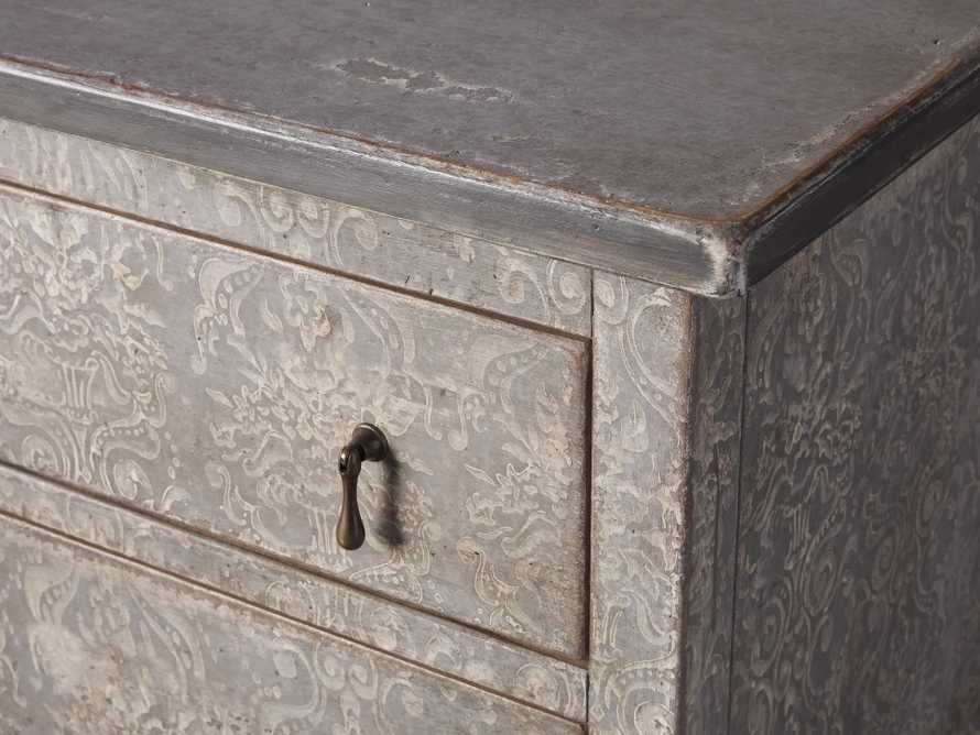 """Amalfi 31.5"""" Small Two Chest Drawer in Dolphine Grey with Bianco, slide 3 of 5"""