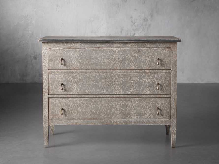 """Amalfi 31.5"""" Three Chest Drawer in Dolphine Grey with Bianco, slide 1 of 6"""
