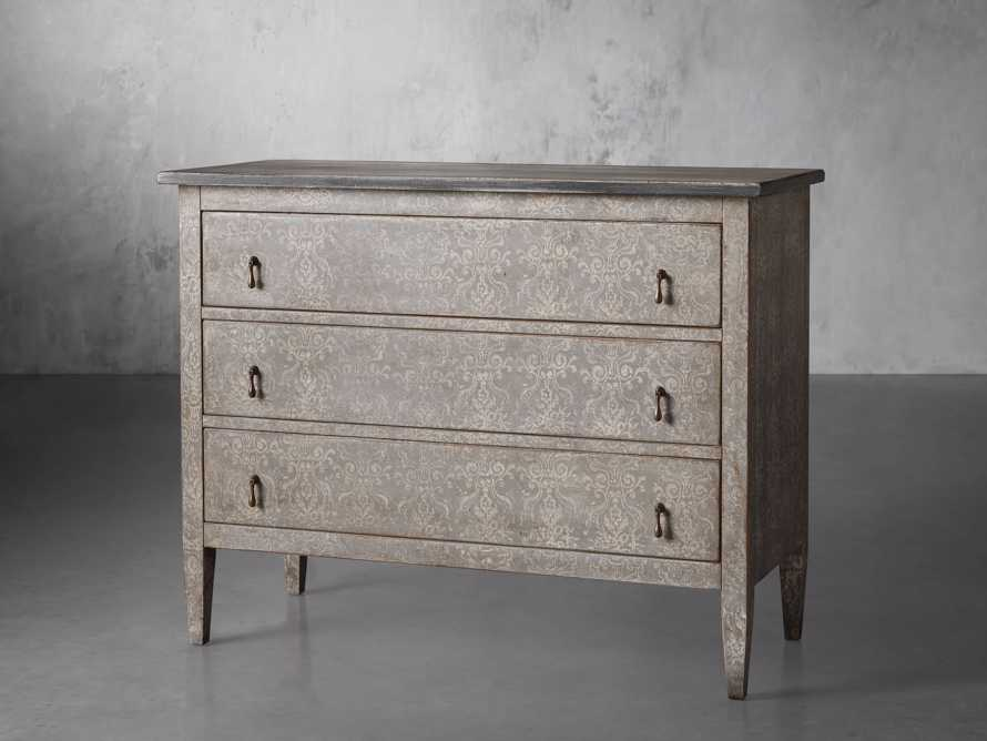 """Amalfi 31.5"""" Three Chest Drawer in Dolphine Grey with Bianco, slide 2 of 6"""