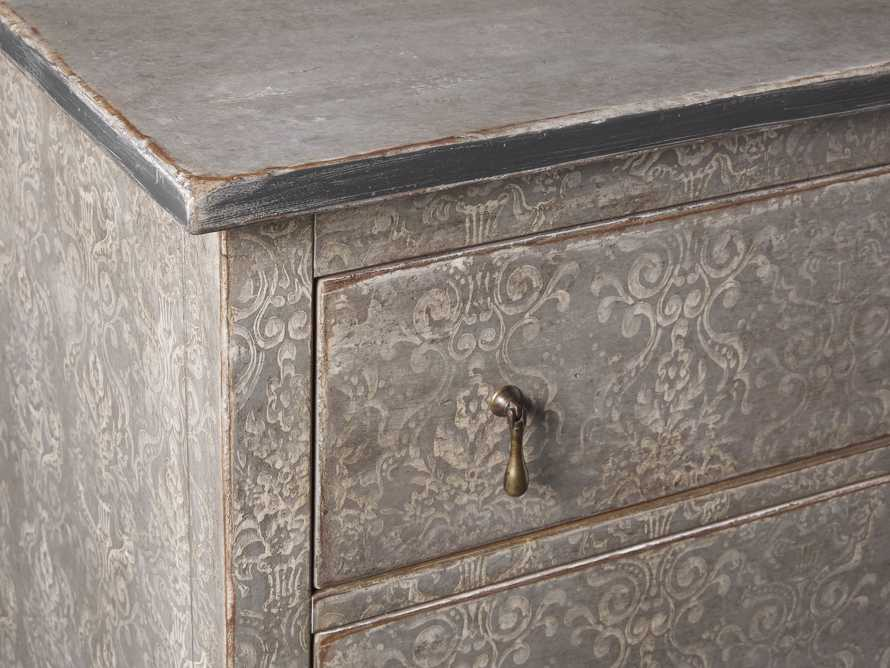 """Amalfi 31.5"""" Three Chest Drawer in Dolphine Grey with Bianco, slide 3 of 6"""