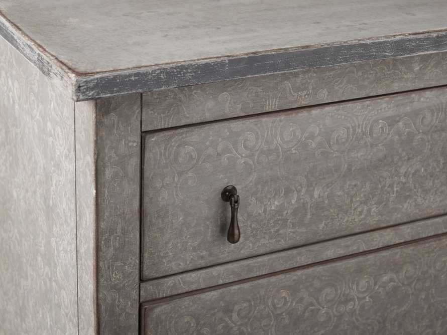 """Amalfi 63"""" Six Chest Drawer in Dolphine Grey with Bianco, slide 3 of 4"""