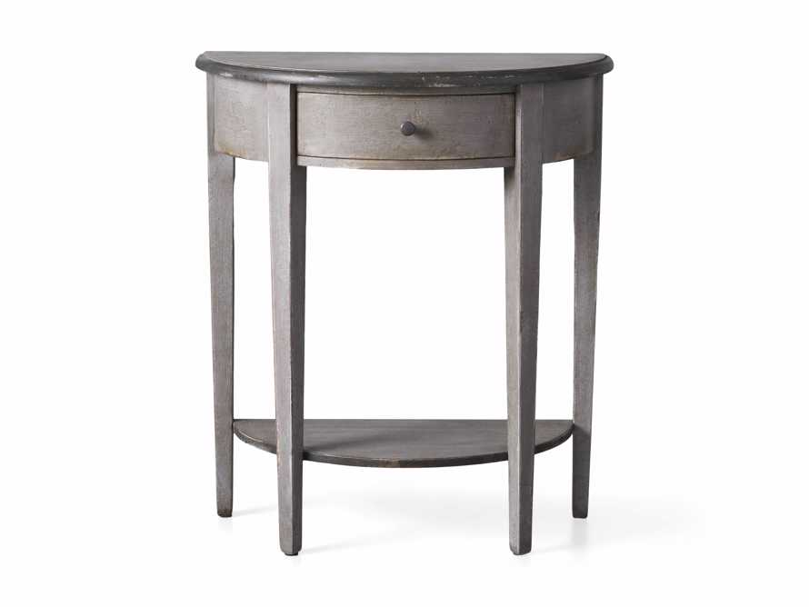 """Amalfi 24.5"""" Demilune Side Table in Dolphine Grey, slide 4 of 5"""