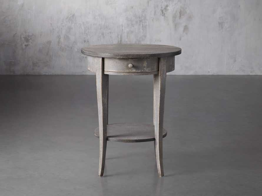 "Amalfi 20"" Round Side Table in Dolphine Grey, slide 1 of 4"