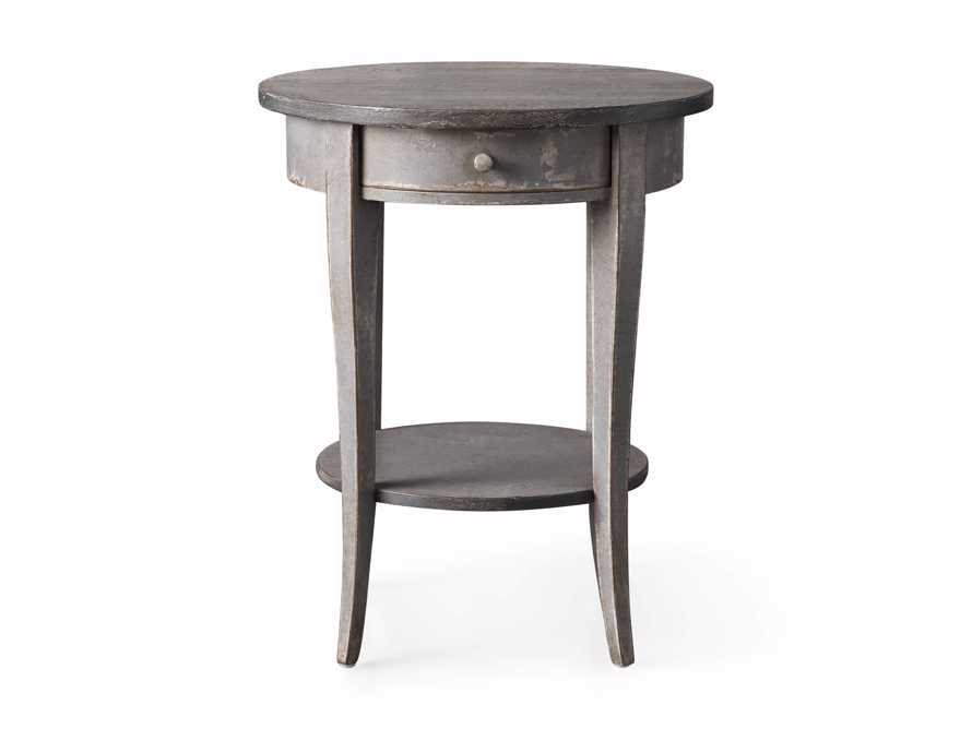 "Amalfi 20"" Round Side Table in Dolphine Grey, slide 4 of 4"