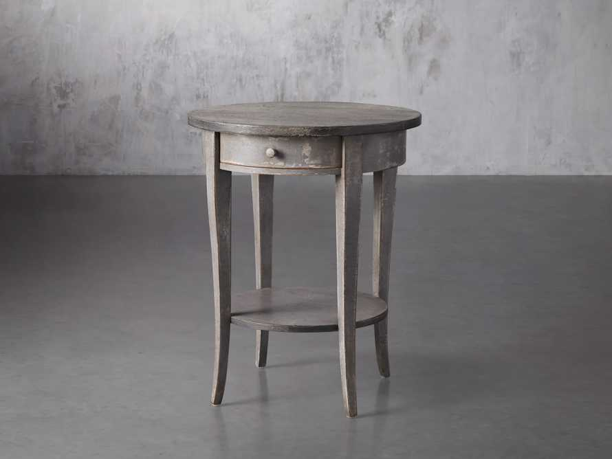 "Amalfi 20"" Round Side Table in Dolphine Grey, slide 2 of 4"