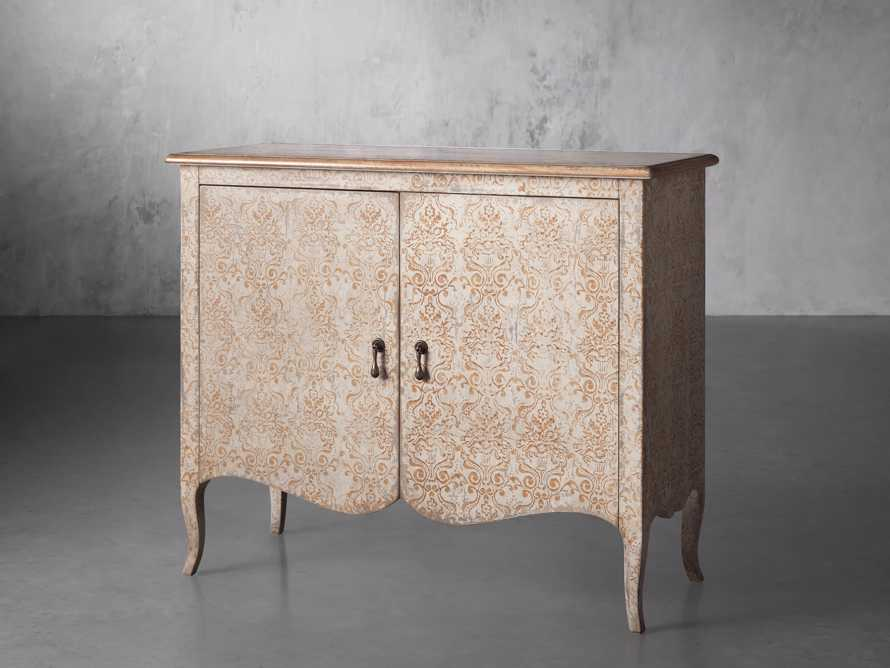 "Amalfi 44.5"" Modello Isabella 2 Door Chest in Ivory with Terracotta, slide 2 of 5"