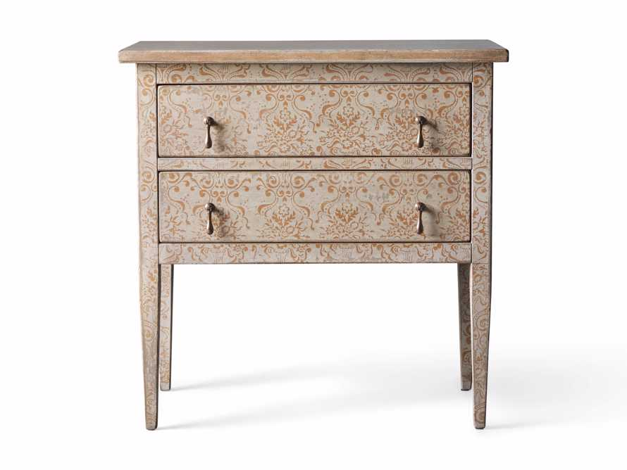 "Amalfi 31.5"" Small Two Chest Drawer in Ivory with Terracotta, slide 4 of 4"