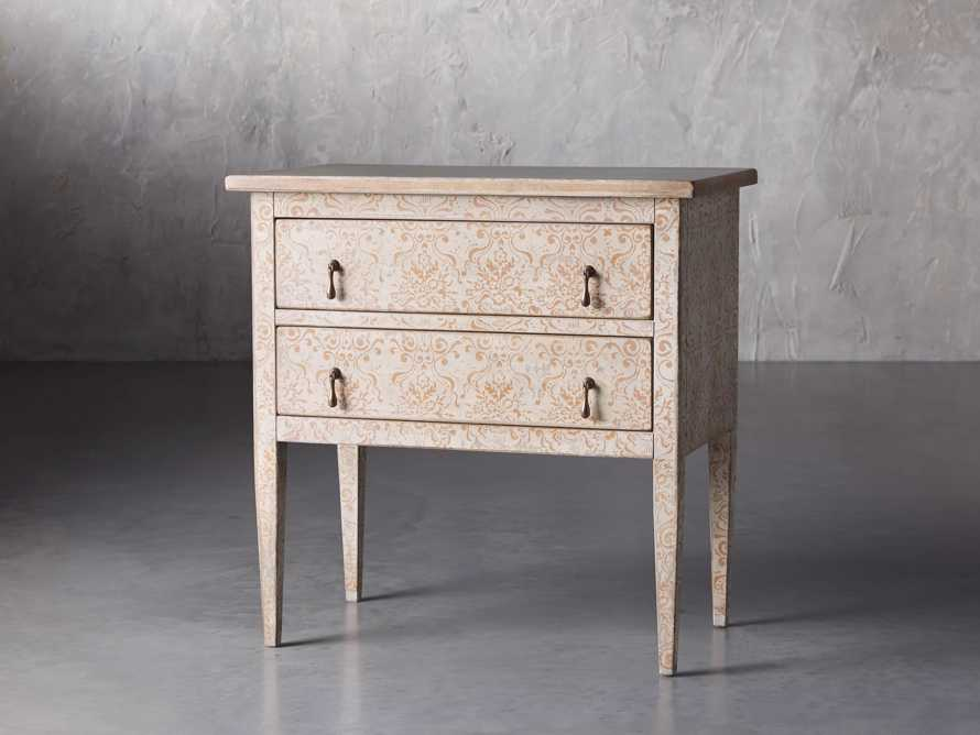 "Amalfi 31.5"" Small Two Chest Drawer in Ivory with Terracotta, slide 2 of 4"