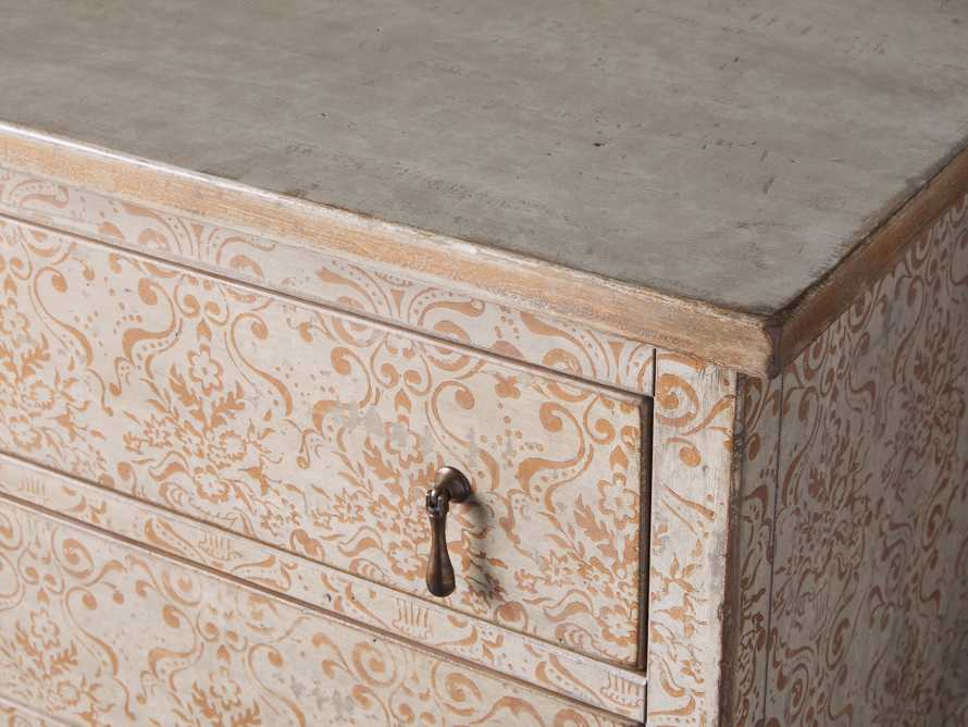 "Amalfi 31.5"" Small Two Chest Drawer in Ivory with Terracotta, slide 3 of 4"