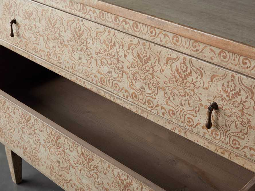 "Amalfi 50"" Three Chest Drawer in Ivory with Terracotta, slide 3 of 5"