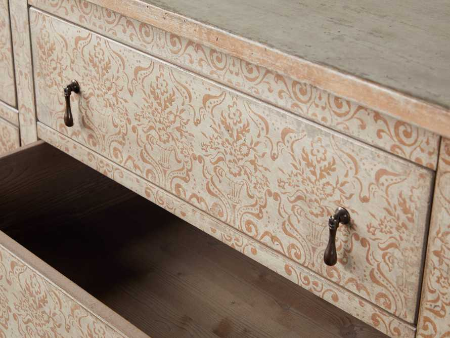 """Amalfi 63"""" Six Chest Drawer in Ivory with Terracotta, slide 3 of 5"""