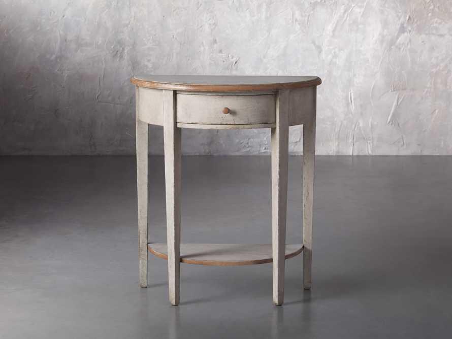 "Amalfi 24.5"" Demilune Side Table in Terracotta, slide 1 of 5"
