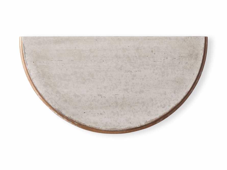 "Amalfi 24.5"" Demilune Side Table in Terracotta, slide 5 of 5"