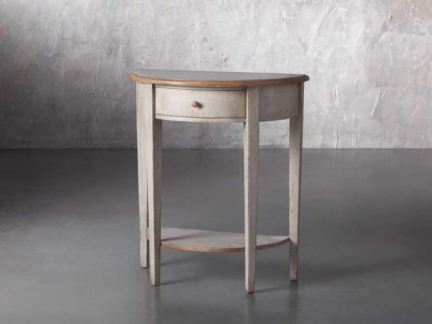 "Amalfi 24.5"" Demilune Side Table in Terracotta, slide 2 of 5"