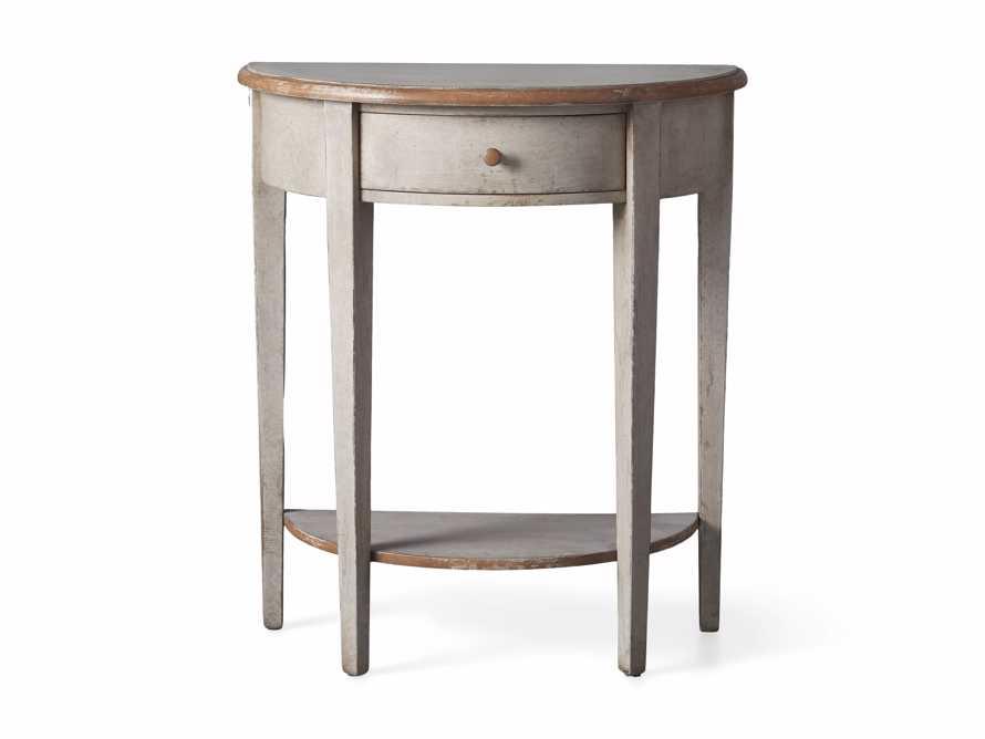 "Amalfi 24.5"" Demilune Side Table in Terracotta, slide 4 of 5"