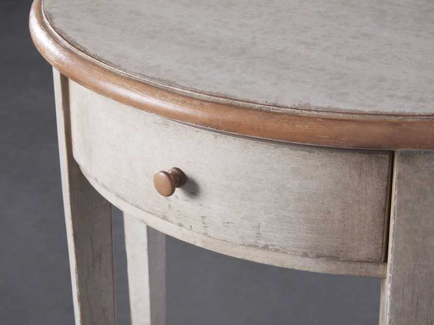"Amalfi 24.5"" Demilune Side Table in Terracotta, slide 3 of 5"