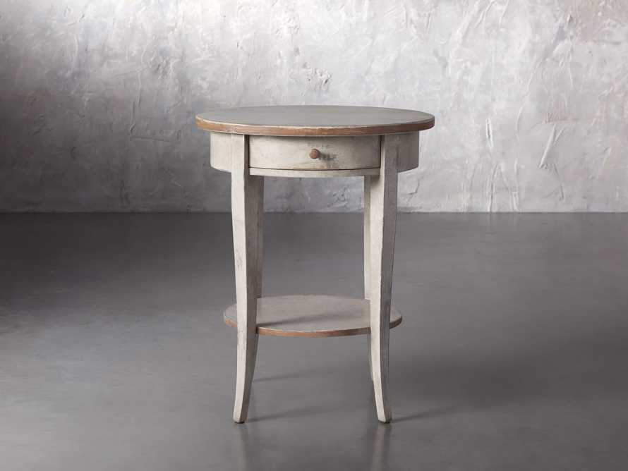 """Amalfi 20"""" Round Side Table in Terracotta, slide 1 of 5"""