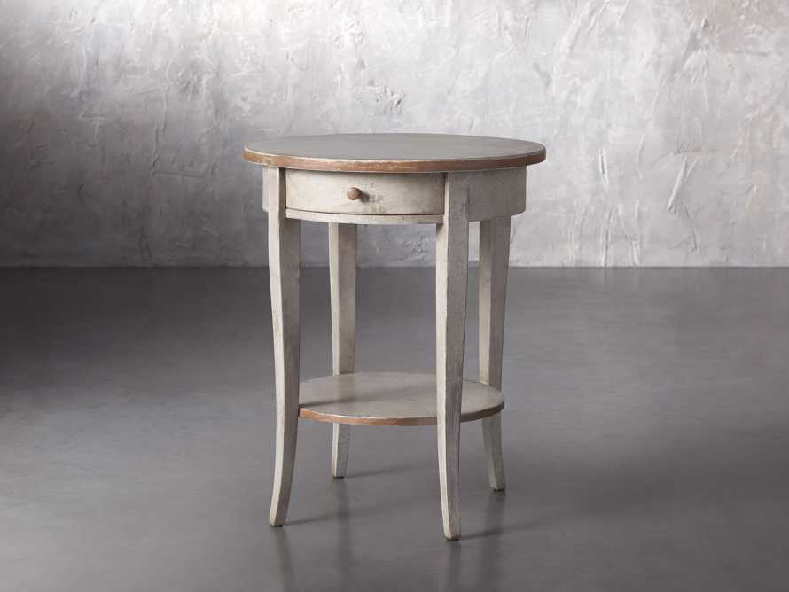 """Amalfi 20"""" Round Side Table in Terracotta, slide 2 of 5"""