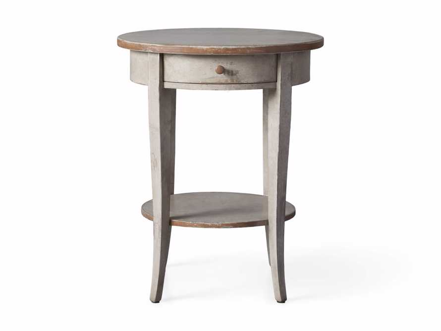 """Amalfi 20"""" Round Side Table in Terracotta, slide 4 of 5"""