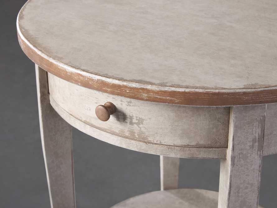 """Amalfi 20"""" Round Side Table in Terracotta, slide 3 of 5"""