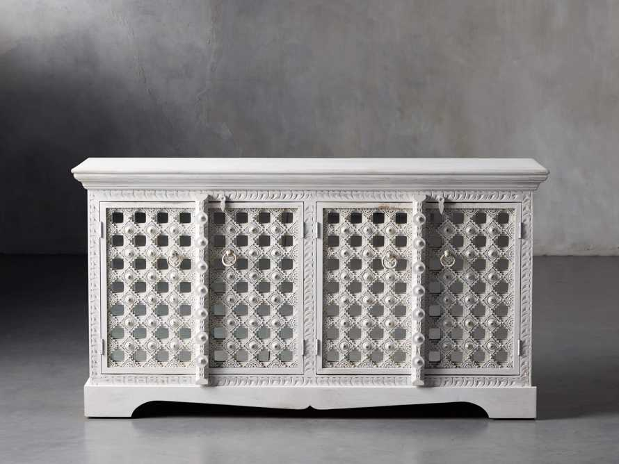 """Anika 60"""" Console Table in White, slide 1 of 10"""