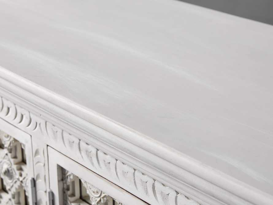 """Anika 60"""" Console Table in White, slide 7 of 10"""