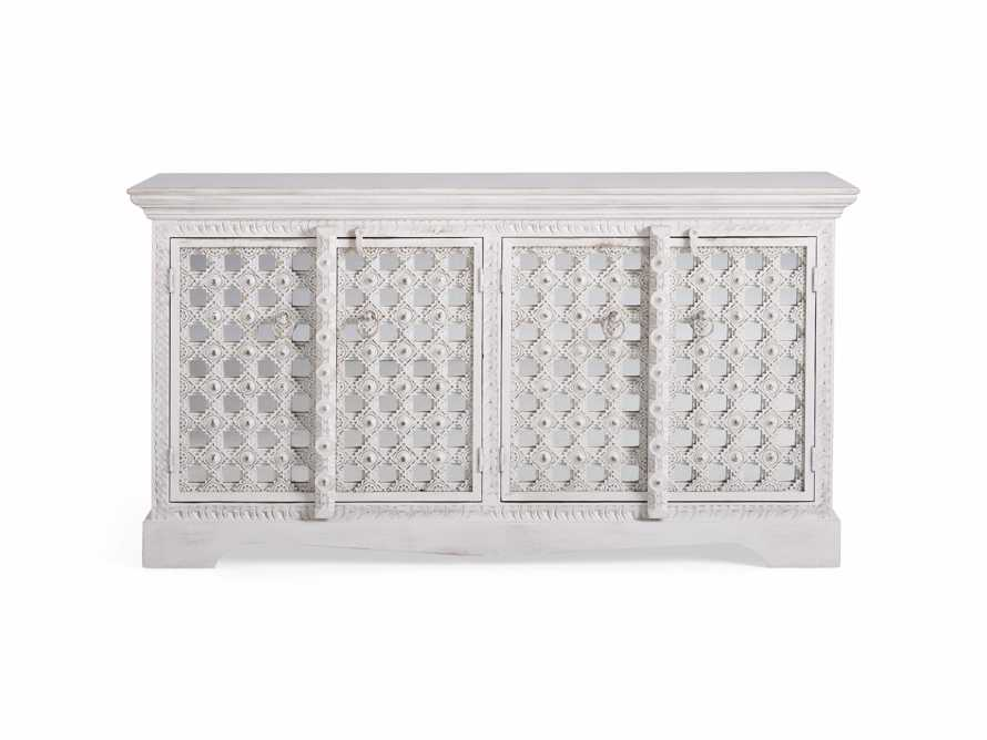 """Anika 60"""" Console Table in White, slide 9 of 10"""
