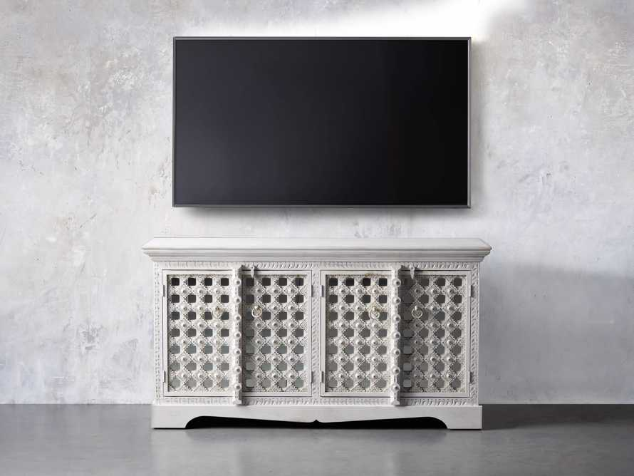 """Anika 60"""" Console Table in White, slide 5 of 10"""