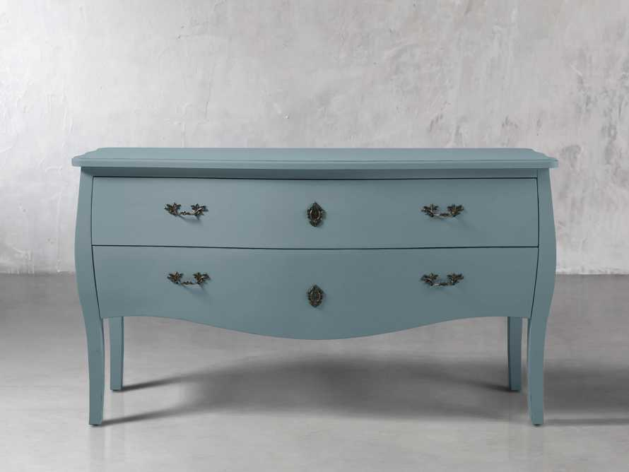 Bombay Large 2 Drawer Chest in Bay Green, slide 1 of 4