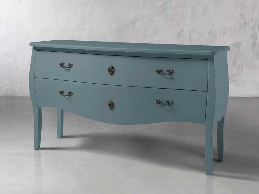 Bombay Large 2 Drawer Chest in Bay Green, slide 2 of 4