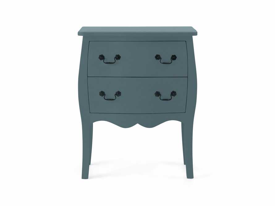 Bombay Small 2 Drawer Chest in Bay Green, slide 2 of 5