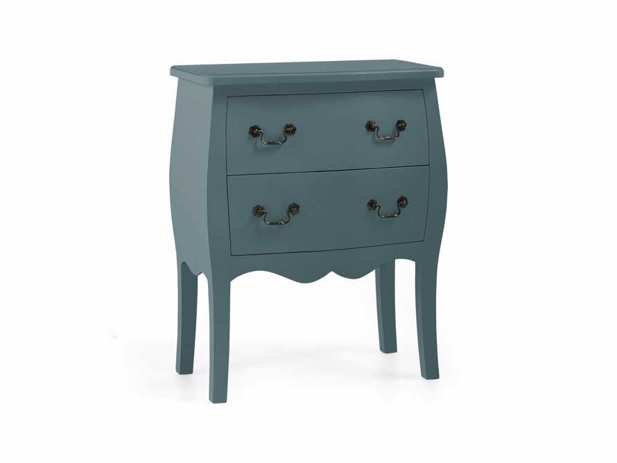 Bombay Small 2 Drawer Chest in Bay Green, slide 3 of 5