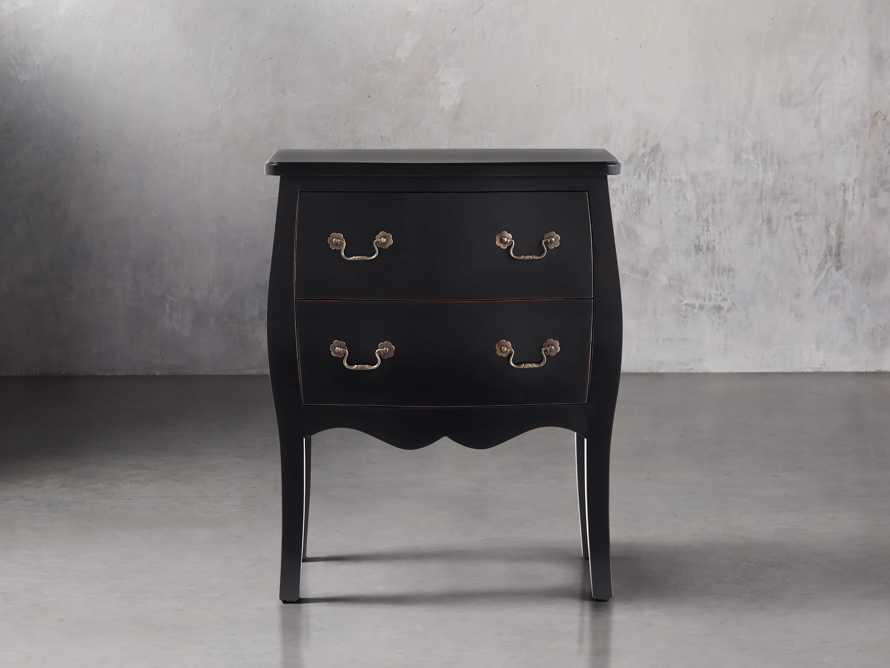 Bombay Small 2 Drawer Chest in Black