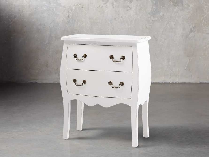 Bombay Small 2 Drawer Chest in White