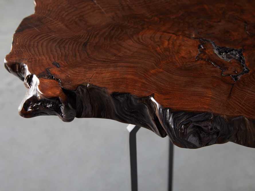 Redwood Live Edge End Table